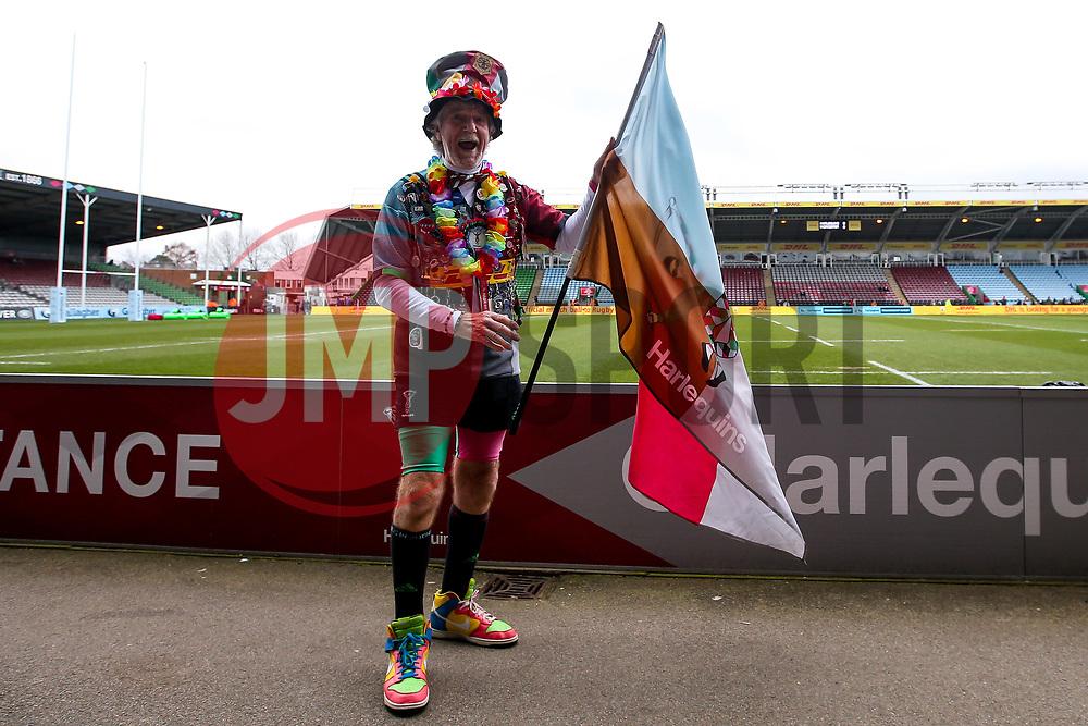 A Harlequins fan - Mandatory by-line: Robbie Stephenson/JMP - 16/02/2019 - RUGBY - Twickenham Stoop - London, England - Harlequins v Worcester Warriors - Gallagher Premiership Rugby