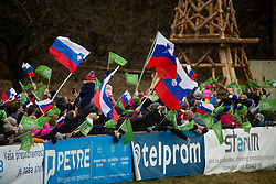 Fans during second round on day 2 of  FIS Ski Jumping World Cup Ladies Ljubno 2020, on February 23th, 2020 in Ljubno ob Savinji, Ljubno ob Savinji, Slovenia. Photo by Matic Ritonja / Sportida