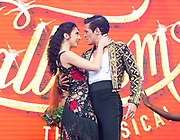West End Live 2018 <br /> Trafalgar Square, London, Great Britain <br /> 16th June 2018 <br /> <br /> Excerpts from West End musicals perform live on stage in Trafalgar Square, London <br /> <br /> Jonny Labey &amp; Zizi Strallen <br /> In Strictly Ballroom <br /> <br /> Photograph by Elliott Franks