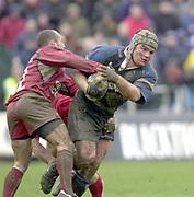 31/01/2004 Parker Pen Challenge Trophy.Bath Rugby v Beziers.Matt Stevens attacking...   [Mandatory Credit, Peter Spurier/ Intersport Images].