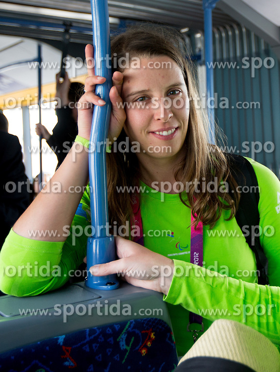 Spela Rozman of Team Slovenia at Airport in Frankfurt during way back to Airport Joze Pucnik after the London 2012 Paralympic Games on September 10, 2012, in Frankfurt, Germany. (Photo by Vid Ponikvar / Sportida.com)