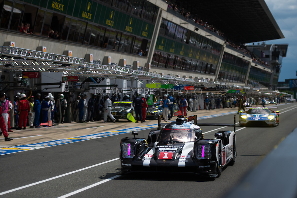 June 14-19, 2016: 24 hours of Le Mans. 1 PORSCHE TEAM, PORSCHE 919 HYBRID, Timo BERNHARD, Mark WEBBER, Brendon HARTLEY, LMP1