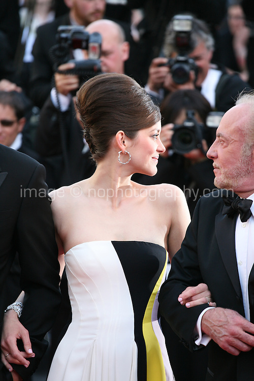 Actress Marion Cotillard and Actor, James Caan.at the Blood Ties film gala screening at the Cannes Film Festival Monday 20th May 2013