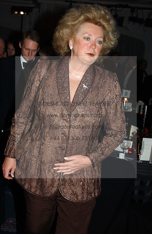 KIRSTEN RAUSING at the 2004 Cartier Racing Awards in association with the Daily Telegraph, held at the Four Seasons Hotel, London on 17th November 2004.<br />