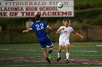 Laconia v Gilford boys varsity soccer.    Karen Bobotas for the Laconia Daily Sun