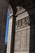 France. Paris , Arc de Triomphe, place de l'etoile ,