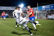 Western Sydney Wanderers defender Josh Risdon (4) centers the ball at the FFA Cup Round 16 soccer match between Bonnyrigg White Eagles FC v Western Sydney Wanderers FC at Marconi Stadium in Sydney.