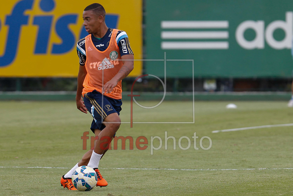 Gabriel Jesus durante Treino do Palmeiras na tarde desta segunda-feira (26/10) na Academia de Futebol em São Paulo. Foto: Anderson Gores/FramePhoto