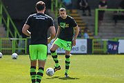 Forest Green Rovers Haydn Hollis warming up during the EFL Sky Bet League 2 match between Forest Green Rovers and Grimsby Town FC at the New Lawn, Forest Green, United Kingdom on 5 May 2018. Picture by Shane Healey.