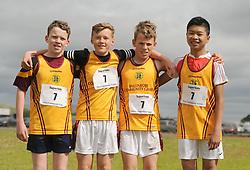 Ballinrobe boys U14 winners at the Mayo Community Games, Sean Biggins, James Marrey, Diarmuid and Chris Durkan<br /> Pic Conor McKeown