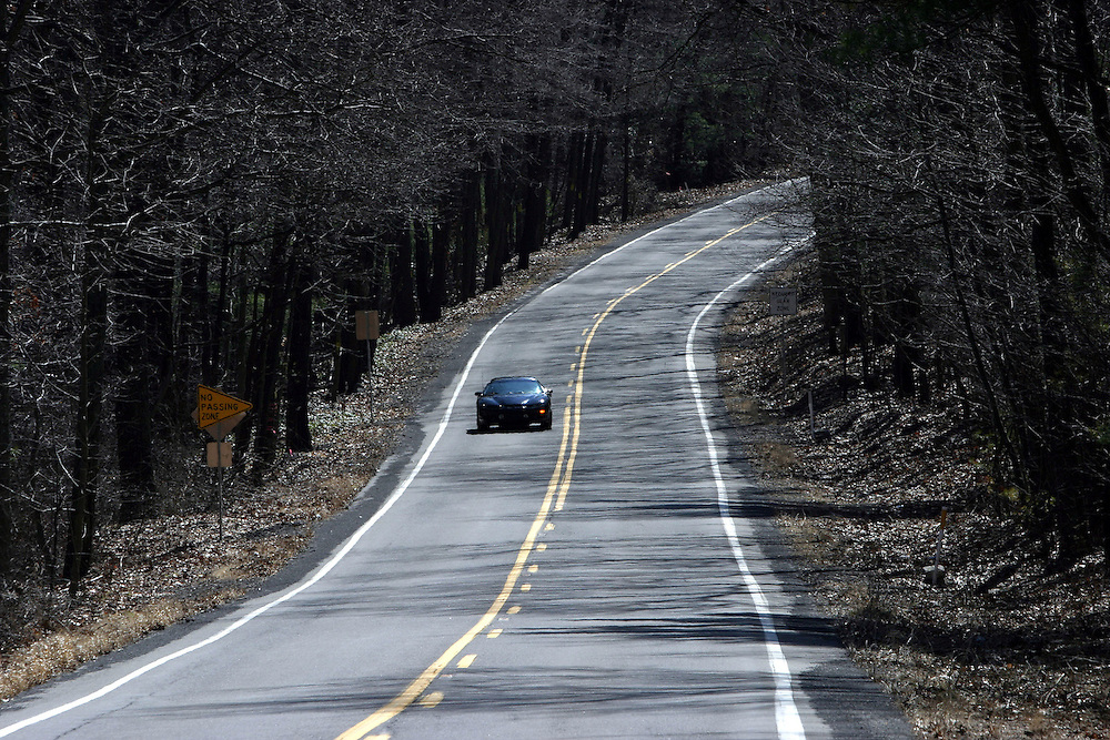 Pennsylvania: State Rt. 125 from Shamokin to Pine Grove..Friday, March 17, 2006 ....A picturesque winding stretch of State Route 125 from Shanokin to Pine Grove in Pennsylvania on Friday, March 17, 2006. The road is considered among the best driving roads in America according to a poll of the top 25 Porsche reviewers.....Angela Romberger drives her Mustang on a rural stretch of State Route 125 from Shanokin to Pine Grove in Pennsylvania on Friday, March 17, 2006. The road is considered among the best driving roads in America according to a poll of the top 25 Porsche reviewers...