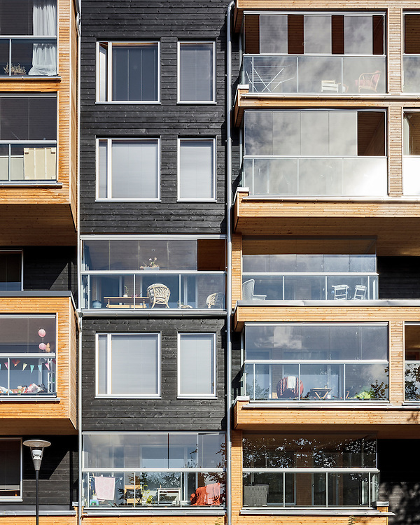 Eskolantie apartments in Helsinki, Finland designed by  Matti liramo Architects