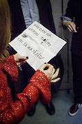 Tokyo, Japan, June 24 2016 - French acctress Isabelle Huppert in Tokyo for the French Film Festival 2016.<br /> Isabelle Huppert trying to remember a few words in Japanese before the opening of the festival.