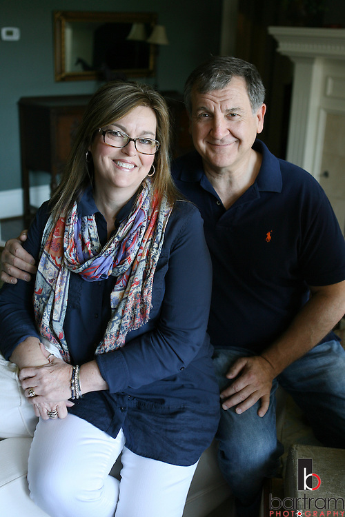 Jennifer Andrick and her husband Tom at home on Saturday, April 2, 2016 in Plano, Texas. (Photo by Kevin Bartram)