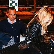 CRO/Zagreb/20130314- K1 WGP Final Zagreb, Badr Hari en Estelle Cruijff gaan hapje eten met familie en vrienden, Estelle en Robert Halewijn