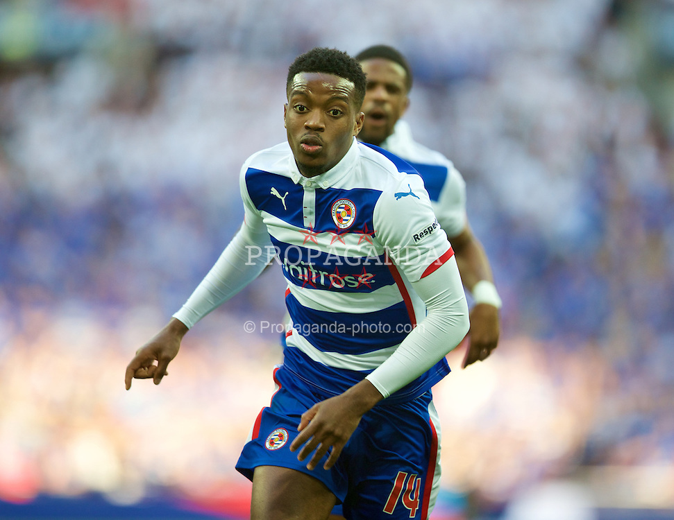 LONDON, ENGLAND - Saturday, April 18, 2015: Reading's Nathaniel Chalobah in action against Arsenal during the FA Cup Semi-Final match at Wembley Stadium. (Pic by David Rawcliffe/Propaganda)