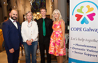 Midsummer Melodies, a concert of choral music with Marine Institute singers, SSE Airs which took  place in the Augustinian Church Galway . Proceeds to COPE Galway . At the eventwere Owen Gihooly, Hannah Kiely, COPE, Ruaidhrí O'Dalaigh,SSE AIRS and   Carmel Dooley director Marine Institute Singers. Photo:Andrew Downes, xposure.