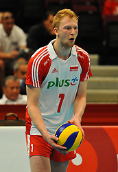 17.09.2011, Stadthalle, Wien, AUT, CEV, Europaeische Volleyball Meisterschaft 2011, Halbfinale, Italien vs Polen, im Bild Piotr Nowakowski, (POL, #1, Middle-Blocker) // during the european Volleyball Championship Semi Final Italy vs Poland, at Stadthalle, Vienna, 2011-09-17, EXPA Pictures © 2011, PhotoCredit: EXPA/ M. Gruber