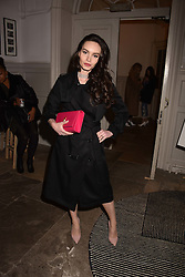 Eva West at PPQ LFW Autumn Winter 2017 show, Crypt on the Green, Clerkenwell, London England. 17 February 2017.