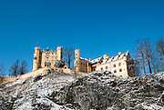 The famous castle of Hohenschwangau in Fuessen, Germany