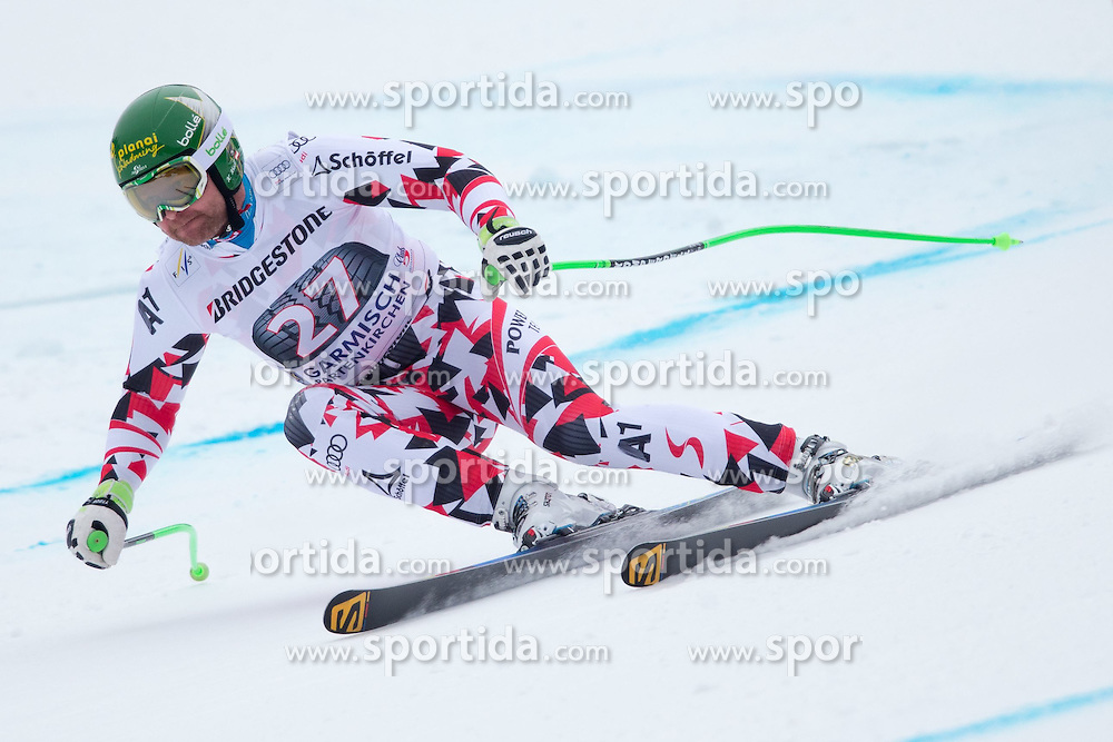 27.02.2015, Kandahar, Garmisch Partenkirchen, GER, FIS Weltcup Ski Alpin, Abfahrt, Herren, 2. Training, im Bild Klaus Kroell (AUT) // Klaus Kroell of Austria in action during the 2nd trainings run for the men's Downhill of the FIS Ski Alpine World Cup at the Kandahar course, Garmisch Partenkirchen, Germany on 2015/27/02. EXPA Pictures © 2015, PhotoCredit: EXPA/ Johann Groder