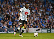 Isak Ssewankanbo during the Capital One Cup match between Portsmouth and Derby County at Fratton Park, Portsmouth, England on 12 August 2015. Photo by Adam Rivers.