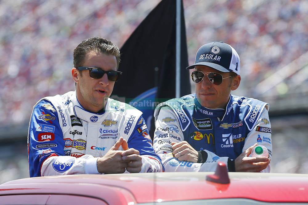 April 29, 2018 - Talladega, Alabama, United States of America - AJ Allmendinger (47) and Jamie McMurray (1) hang out on pit road before the GEICO 500 at Talladega Superspeedway in Talladega, Alabama. (Credit Image: © Chris Owens Asp Inc/ASP via ZUMA Wire)