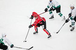 Luka Kalan of Jesenice during ice hockey match between HDD SIJ Acroni Jesenice and HK SZ Olimpija in 10th Round of AHL - Alps Hockey League 2017/18, on October 14, 2017 in Arena Podmezakla, Jesenice, Slovenia. Photo by Vid Ponikvar / Sportida