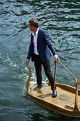 "EXCLUSIVE: Antonio Banderas spent several days in sunny Copenhagen doing a shoot for his new perfume-line ""The Secret Temptation"". It seems to be some kind of actionpacked perfume, since the commercial included racing a Mercedes AMG GTS and several motorbikes at neck breaking speed down Copenhagens narrow streets. At one time the star was also ""water skiing"" on an upside down table in the old channels after a classic Riva-boat. Several hot models also seemed to be a part of the commercial. At one point Antonio jumps off (well it is supposed to look that way) a high balcony and down on the back seat of a motorbike, driven by a long legged leather clad model. 15 Jun 2017 Pictured: Antonio Banderas filming in Copenhagen. Photo credit: uffe kongsted / MEGA TheMegaAgency.com +1 888 505 6342"