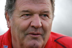 CHESTER, ENGLAND - Monday, February 4, 2008: Wales' manager John Toshack during training at the Carden Park Hotel ahead of their friendly match against Norway. (Photo by David Rawcliffe/Propaganda)
