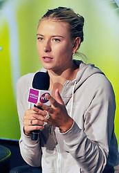 28.04.2012, Porsche Arena, Stuttgart, GER, WTA, Porsche Tennis Grand Prix Stuttgart, im Bild Maria SHARAPOVA SCHARAPOWA RUS Portrait Porträt // during the WTA Porsche Tennis Grand Prix at the Porsche Arena, Stuttgart, Germany on 2012/04/29. EXPA Pictures © 2012, PhotoCredit: EXPA/ Eibner/ Weber..***** ATTENTION - OUT OF GER *****