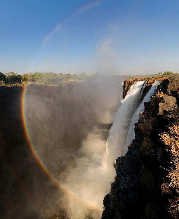 Rainbow at the Victoria Falls, Zambesi River, Livingstone, Southern Province, Zambia