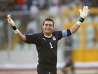 Photo: Steve Bond/Richard Lane Photography.<br />Egypt v Cameroun. Africa Cup of Nations. 22/01/2008. Kamal El Hadary celebrates the second goal