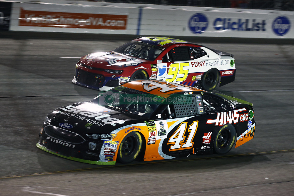 September 22, 2018 - Richmond, Virginia, United States of America - Kurt Busch (41) battles for position during the Federated Auto Parts 400 at Richmond Raceway in Richmond, Virginia. (Credit Image: © Chris Owens Asp Inc/ASP via ZUMA Wire)
