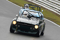 #46 Hughes / Cowing Triumph TR5 2600 / Triumph TR6 2498 during the CSCC Adams and Page Swinging Sixties at Oulton Park, Little Budworth, Cheshire, United Kingdom. October 15 2016. World Copyright Peter Taylor/PSP. <br /> Copy of publication required for printed pictures.  Every used picture is fee-liable. http://archive.petertaylor-photographic.co.uk