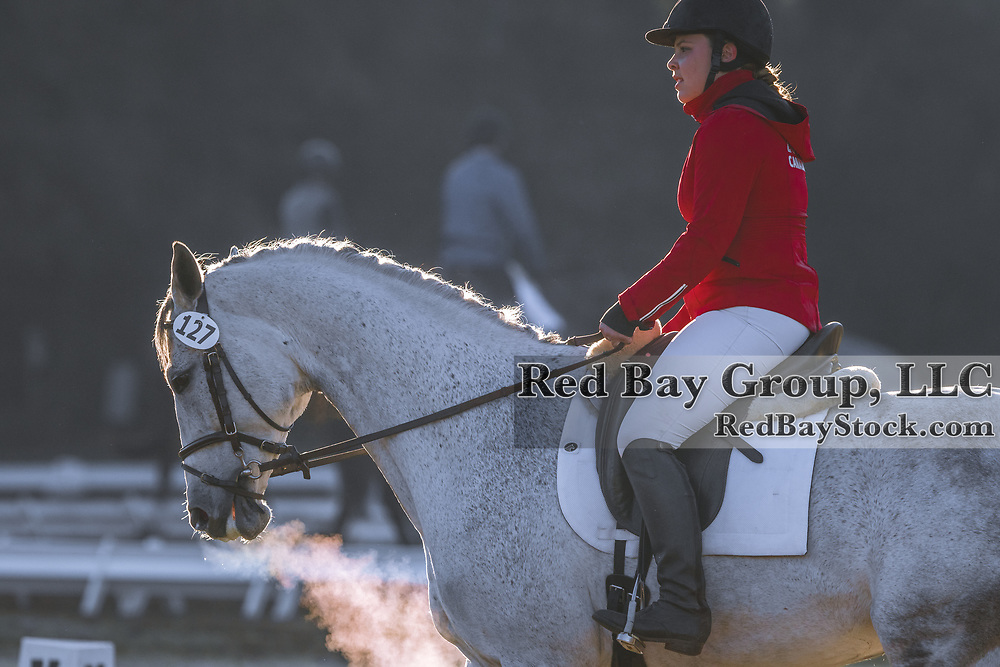 Autumn Smith (CAN) and Mercury early in the day at the Red Hills International Horse Trials in Tallahassee, Florida.