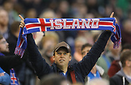 An Iceland fan pictured during the International Friendly match at the Aviva Stadium, Dublin<br /> Picture by Lorraine O'Sullivan/Focus Images Ltd +353 872341584<br /> 28/03/2017