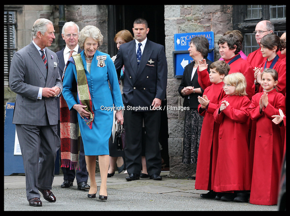 Prince of Wales during a visit to Brecon Cathedral in Wales, Tuesday 10th July 2012.  Photo by: Stephen Lock / i-Images
