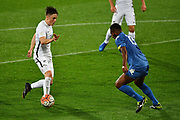 All Whites' Ryan Thomas and Fiji's Josateki Tamudu during the New Zealand All Whites v Fiji, FIFA Football World Cup Qualification, OFC Final Group Stage. Westpac Stadium, Wellington, New Zealand. 28 March 2017. Copyright Image: Mark Tantrum / www.photosport.nz