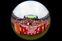 CHARLOTTE, USA - Saturday, August 2, 2014: Liverpool supporters during the International Champions Cup Group B match against AC Milan at the Bank of America Stadium on day thirteen of the club's USA Tour. (Pic by David Rawcliffe/Propaganda)