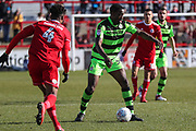 Forest Green Rovers Isaiah Osbourne(34) on the ball during the EFL Sky Bet League 2 match between Accrington Stanley and Forest Green Rovers at the Wham Stadium, Accrington, England on 17 March 2018. Picture by Shane Healey.