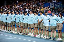 Line Umpires at Trophy ceremony after the Final match at Day 10 of ATP Challenger Zavarovalnica Sava Slovenia Open 2019, on August 18, 2019 in Sports centre, Portoroz/Portorose, Slovenia. Photo by Vid Ponikvar / Sportida