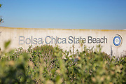 Bolsa Chica State Beach Monument in Huntington Beach California