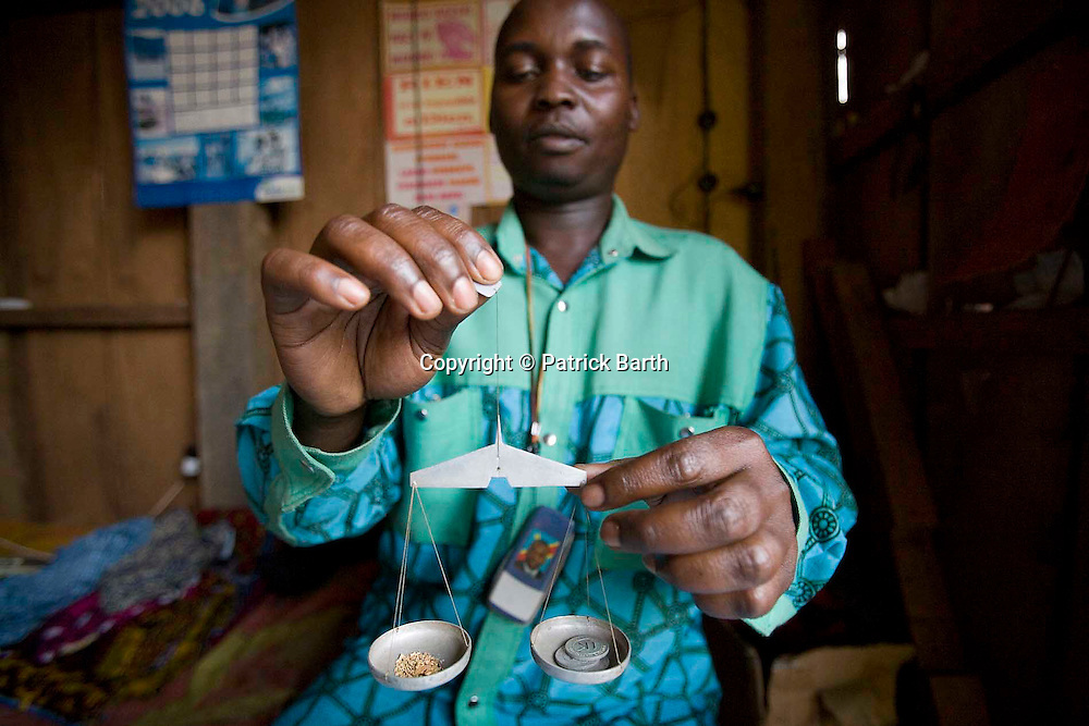 A local buyer of Gold in Mongbwalu Eastern Congo.