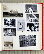 open page of a family photo album Japan Asia 1950s