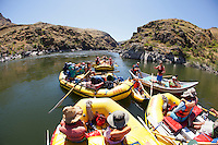 Rafting Hell's Canyon of the Snake River, ID / OR. Hell's Canyon is the deepest canyon in North America.