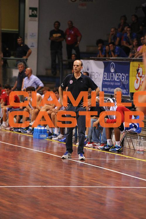 DESCRIZIONE : Novara Torneo di Novara Lega A 2011-12 Angelico Biella Canadian Solar Virtus Bologna<br /> GIOCATORE : Massimo Cancellieri Coach<br /> CATEGORIA : ritratto<br /> SQUADRA :  Angelico Biella<br /> EVENTO : Campionato Lega A 2011-2012<br /> GARA : Angelico Biella Canadian Solar Virtus Bologna<br /> DATA : 10/09/2011<br /> SPORT : Pallacanestro<br /> AUTORE : Agenzia Ciamillo-Castoria/GiulioCiamillo<br /> Galleria : Lega Basket A 2011-2012<br /> Fotonotizia : Novara Torneo di Novara Lega A 2011-12 Angelico Biella Canadian Solar Virtus Bologna<br /> Predefinita :