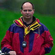 Hazenwinkel, Belgium. British Inaternational Rowing Senior trials.  11.04.2001 Photo: Peter Spurrier..Mark Banks.. ........... [Mandatory Credit; Peter Spurrier/Intersport Images] 200104  GB Rowing Senior Trails, Hazewinkel BELGIUM