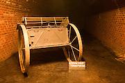 Military utility transporter vehicle German Underground Military hospital, Guernsey, Channel Islands, UK
