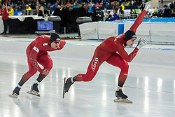 10-12-2016 NED: ISU World Cup Speed Skating, Heerenveen<br /> Team sprint Noorwegen